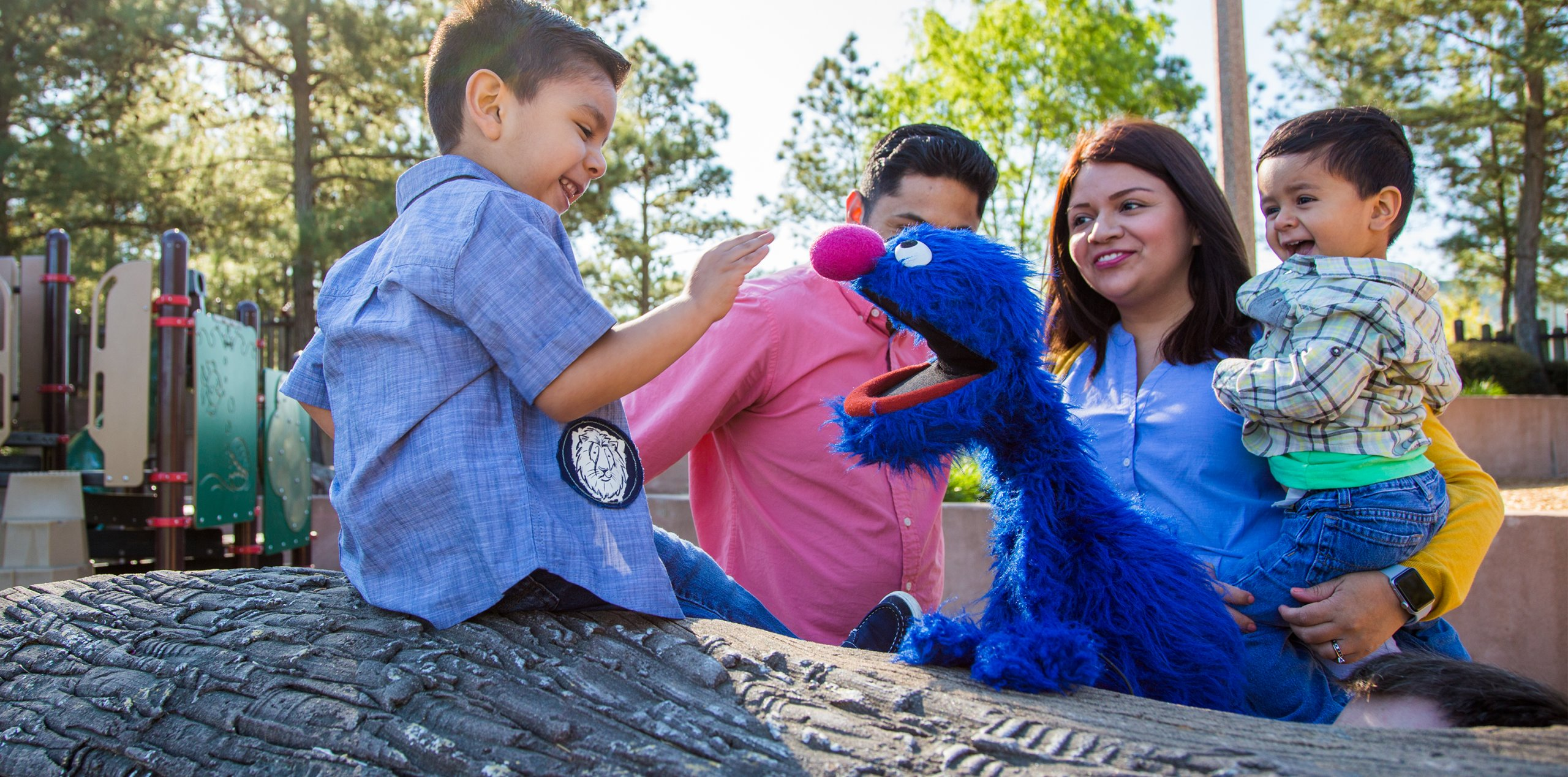 Grover with a family