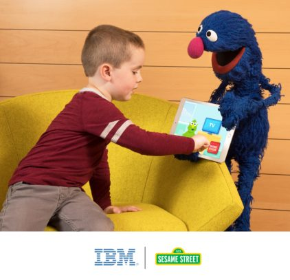 IBM Watson and Grover from Sesame Street
