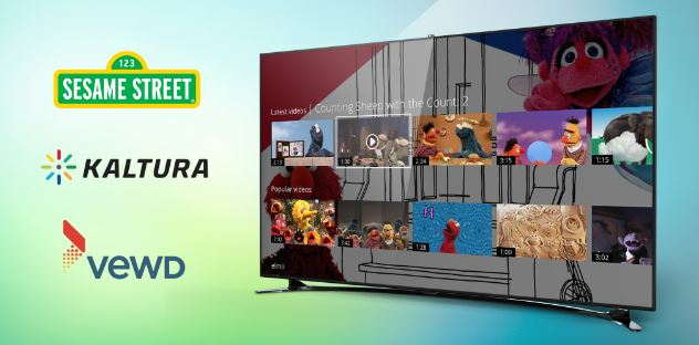 Vewd and Kaltura to Bring Sesame Street to Millions of Families